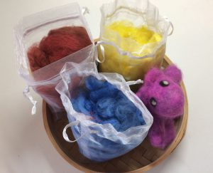 Hand Dyed Alpaca Fiber