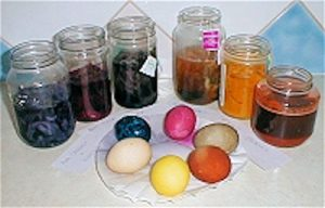 Food Dyed Easter Eggs