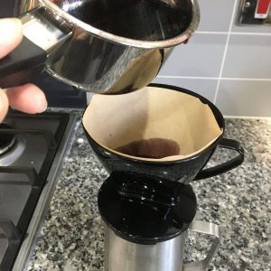 Coffee Filter for Dye Extraction
