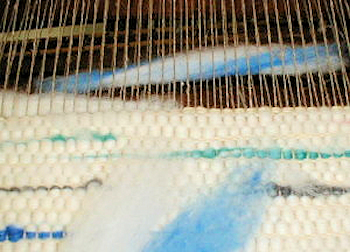 Wool Roving Rug Weaving