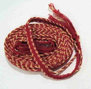 Red Tablet Woven Belt
