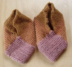 Block Knit Slippers