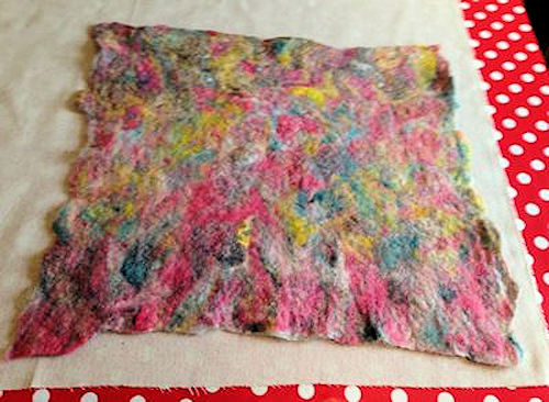 Wet Felting Pillow