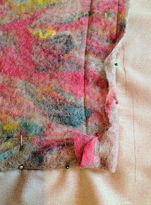 Wet Felted Pillow cover