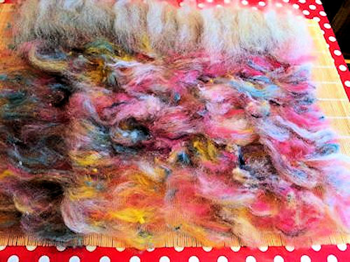 Wet Felting thrums