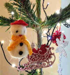 Needlefelt Snowman