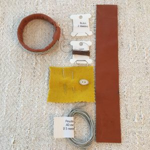 Sami Reindeer Leather Bracelet Kits - Alder
