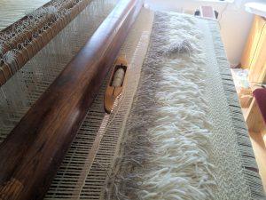 Flokati Rug on the Loom