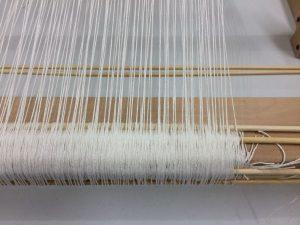Bamboo Sticks on Warp Beam