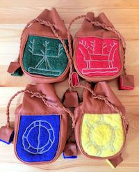 Reindeer Leather Medicine Bags