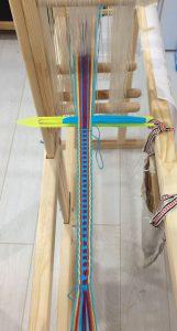 Weaving Tape on Band Loom