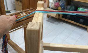 Wind Warp on Band Loom