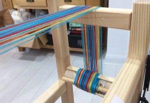 Warp Sticks on Band Loom