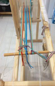 Wind Warp onto Band Loom