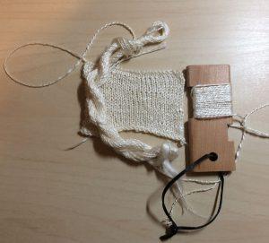 Rose Yarn Spinning Sample