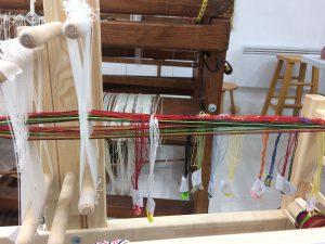 Weaving Pickup on Band Loom