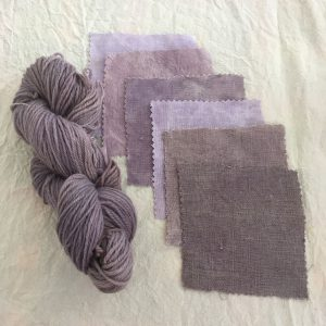 Alkanet Dyed Linen Cotton
