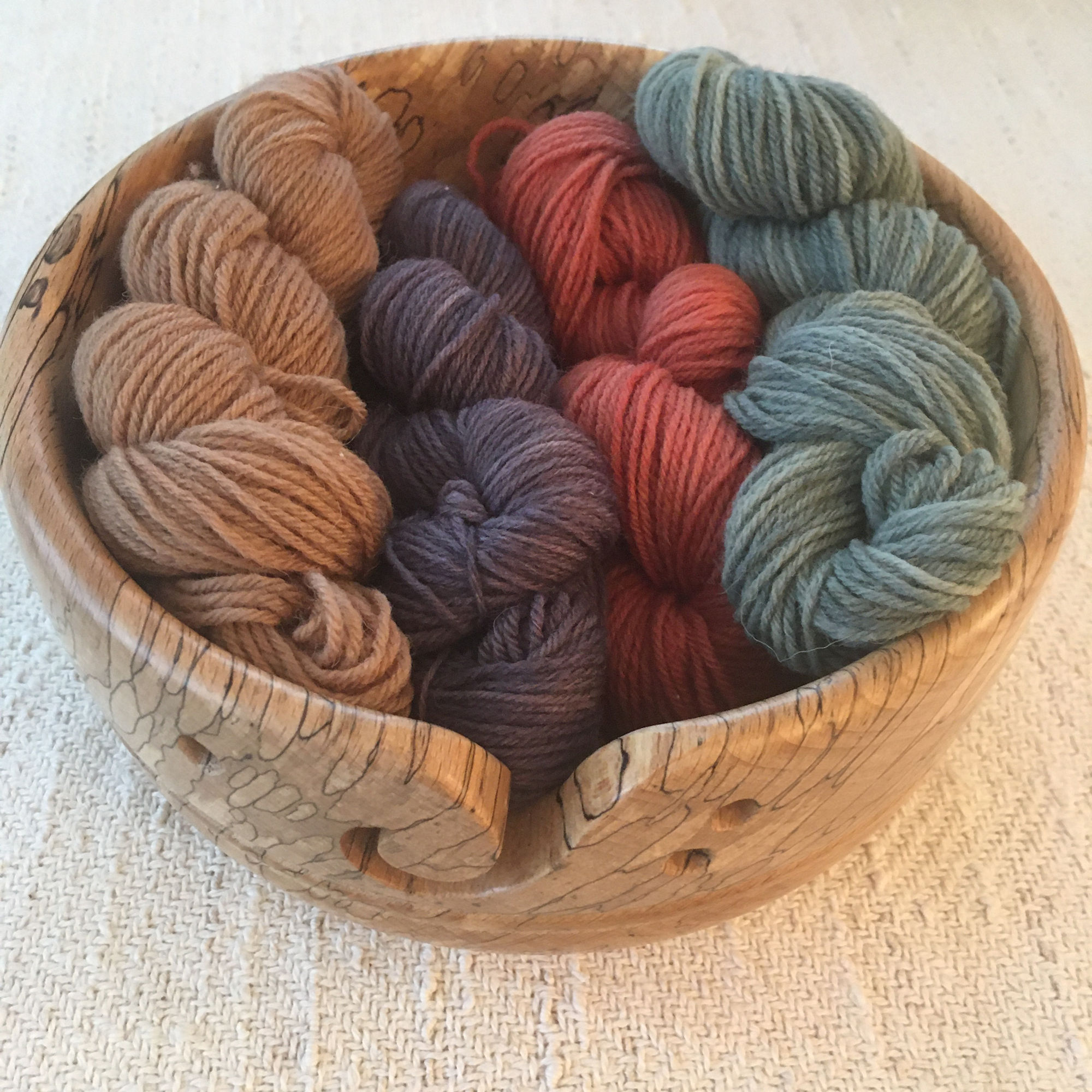 Naturally Plant Dyed Wool Yarn