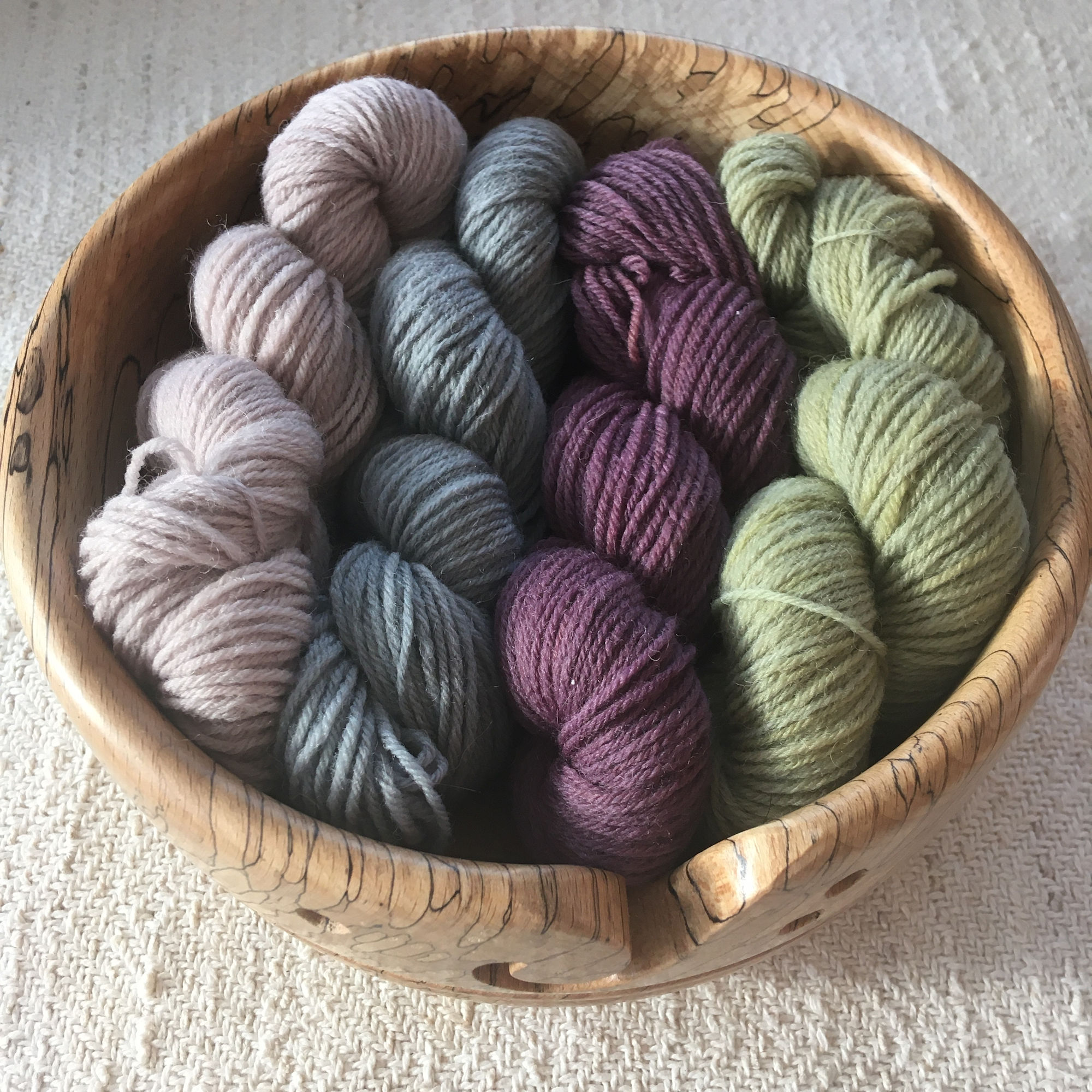 Natural Plant Dyed Wool Yarn
