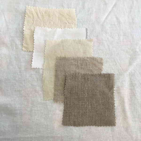 Linen Cotton Mordant Samples