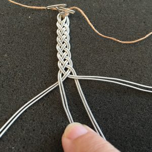 Pewter Thread Weaving - 1 Over