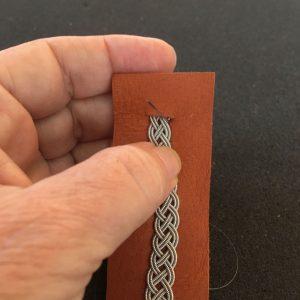 Sewing Pewter Braid