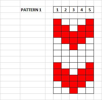 Saami 5 Thread Pattern Draft No. 1